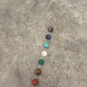 Jewelry - 7 Chakra Healing Natural Stones Necklace
